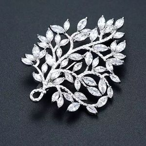 Marquis Tree Brooch